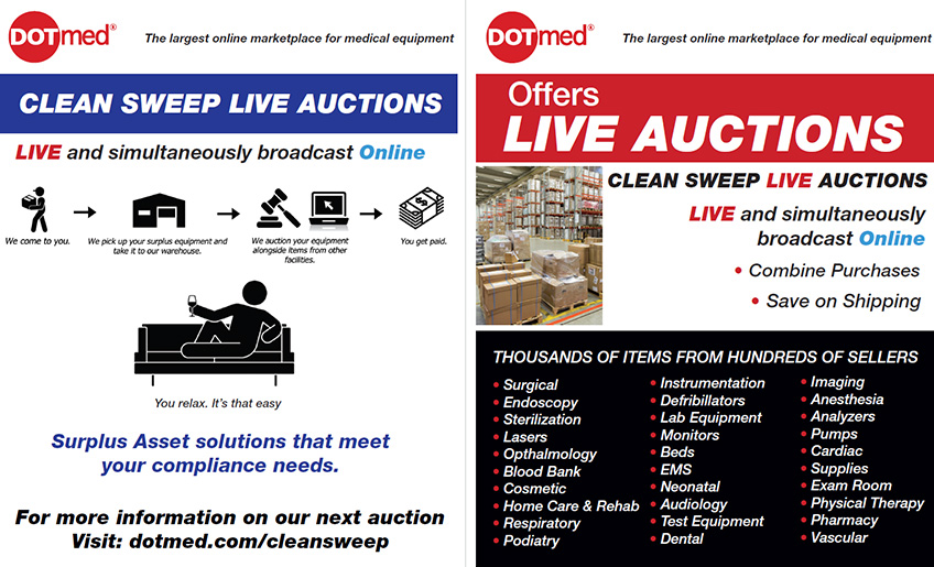 DOTmed Clean Sweep Hospital Liquidation Auctions