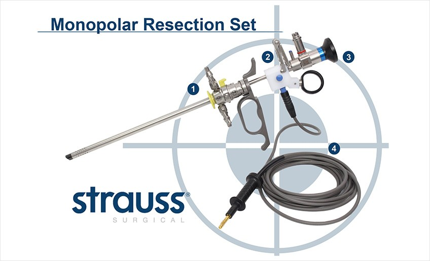 Strauss Surgical Smooth Glide Monopolar Resection Set